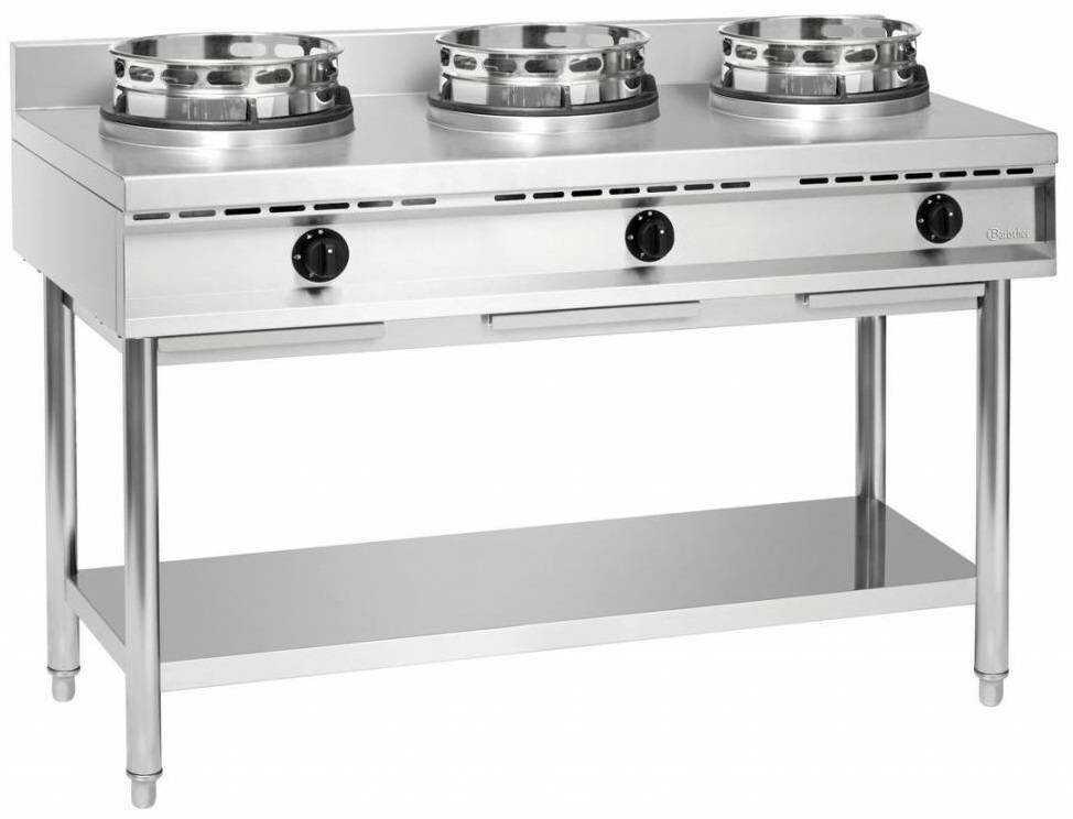 Bartscher Kuchnia wok gazowa 3 palnikowa 34500W - kod 1053103