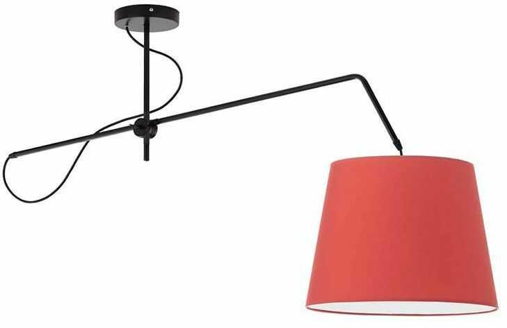 Ruchoma lampa wisząca z abażurem EX240-Oviedex - 18 kolorów do wyboru