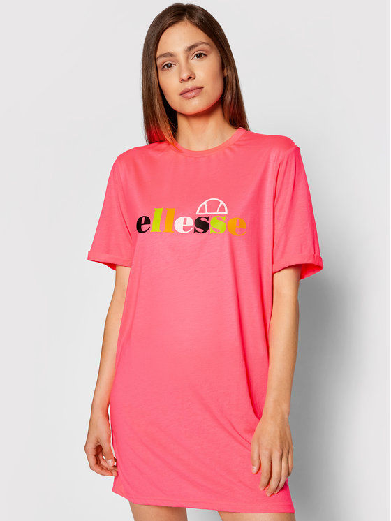 Ellesse Sukienka codzienna Inka SGF10515 Różowy Loose Fit