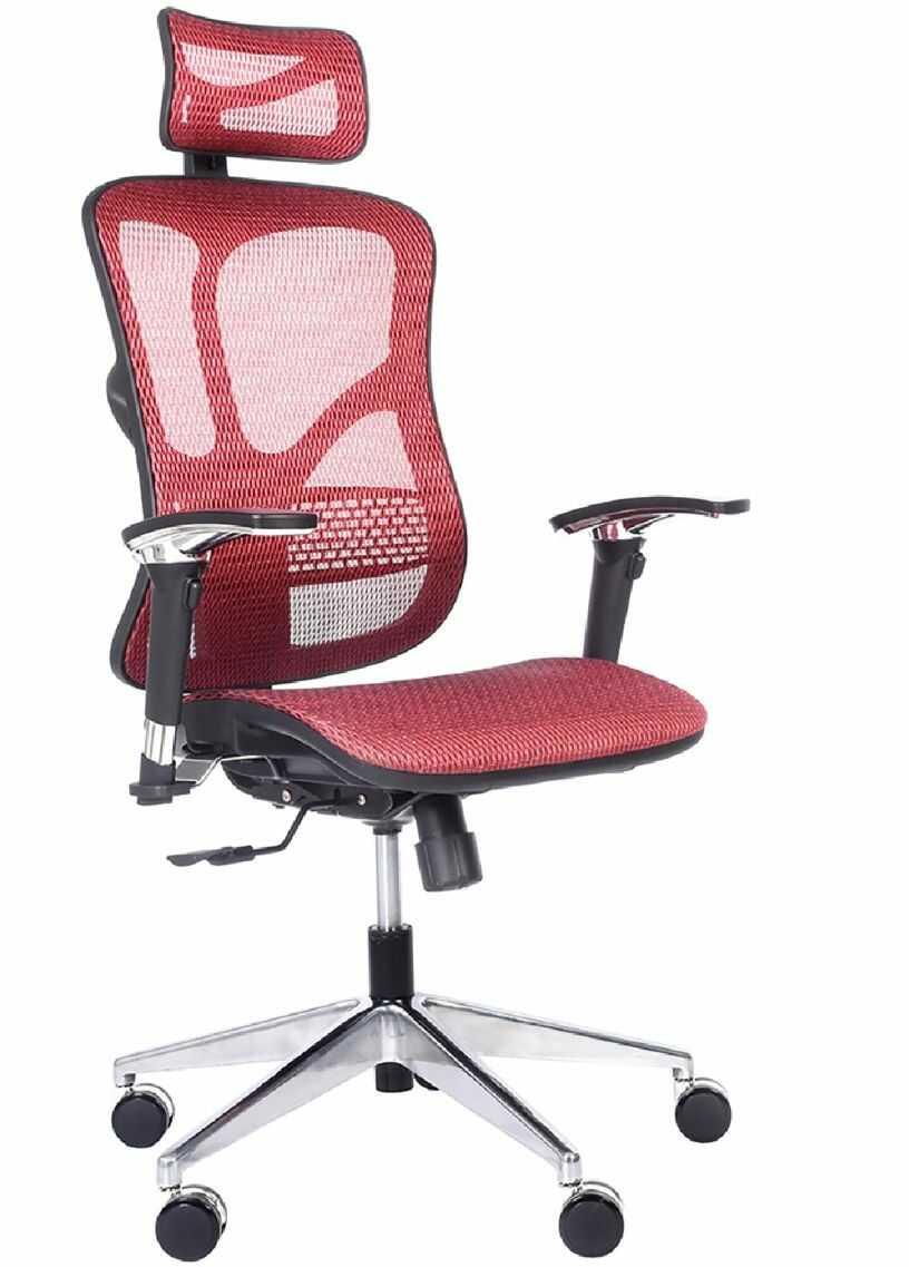 Ergonomiczny fotel biurowy ERGO 500 czerwony