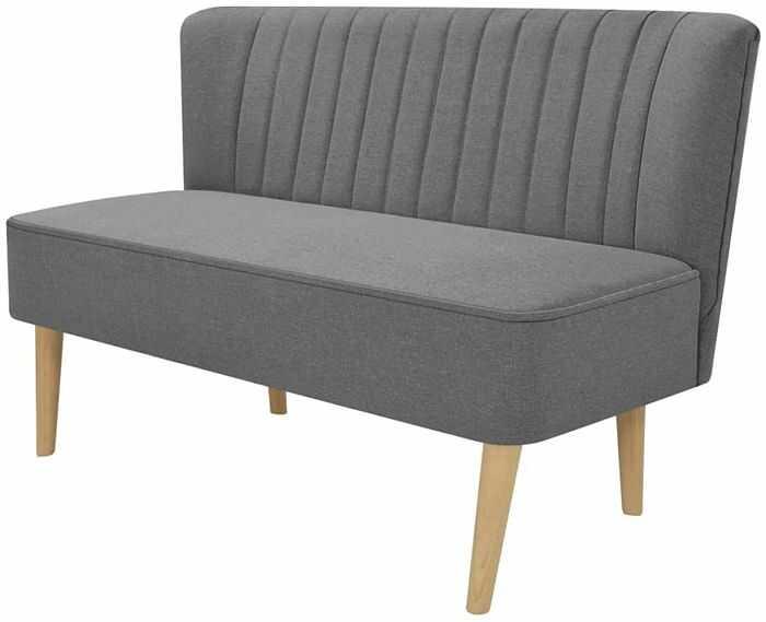 Romantyczna sofa Shelly - jasnoszara
