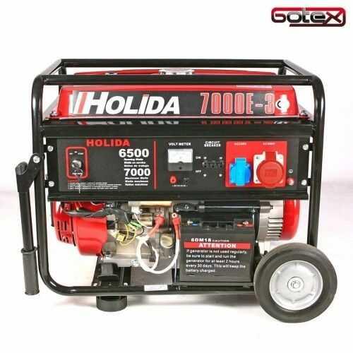Agregat prądotwórczy, generator WM Holida 7000-3 trójfazowy 7 kW - rozrusznik elektryczny