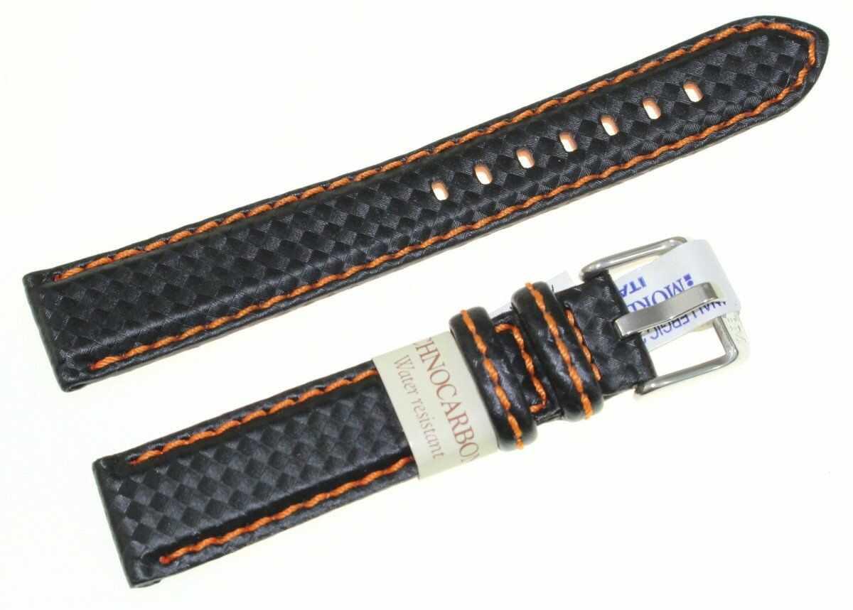 Karbonowy wodoodporny pasek do zegarka 18 mm Morellato A01U3586977886CR18