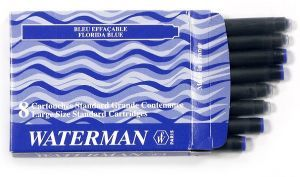 Nabój niebiesko-czarny STANDARD WATERMAN 8 sztuk - X05107