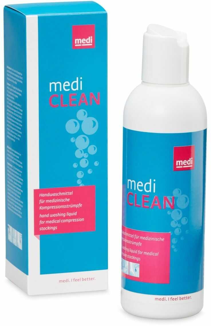 Płyn do prania wyrobów kompresyjnych przedłużający ich żywotność - delikatny dla tkanin, skuteczny w działaniu, chroni i odżywia kolor (Medi Clean)