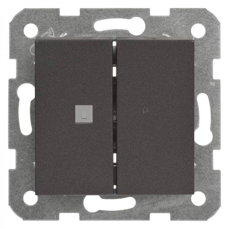 Przycisk żaluzjowy 2-przyciskowy - Novella Czarny