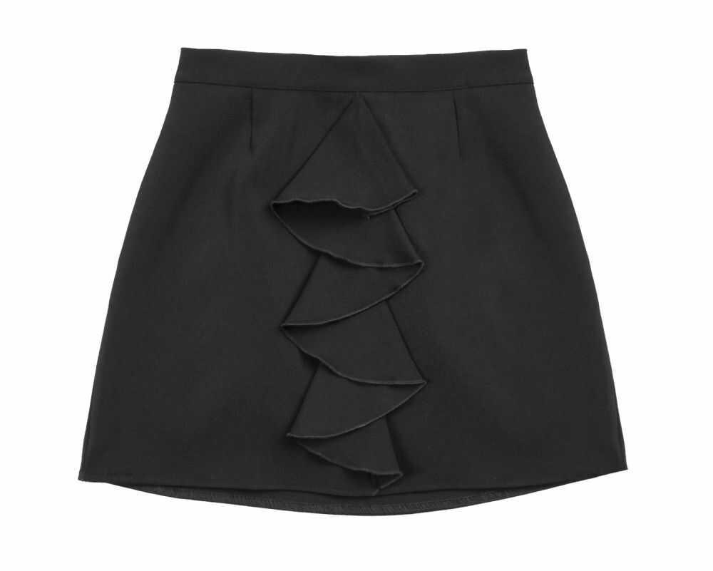 Galowa spódniczka dla dziewczynki 122-158 sd17 czarna