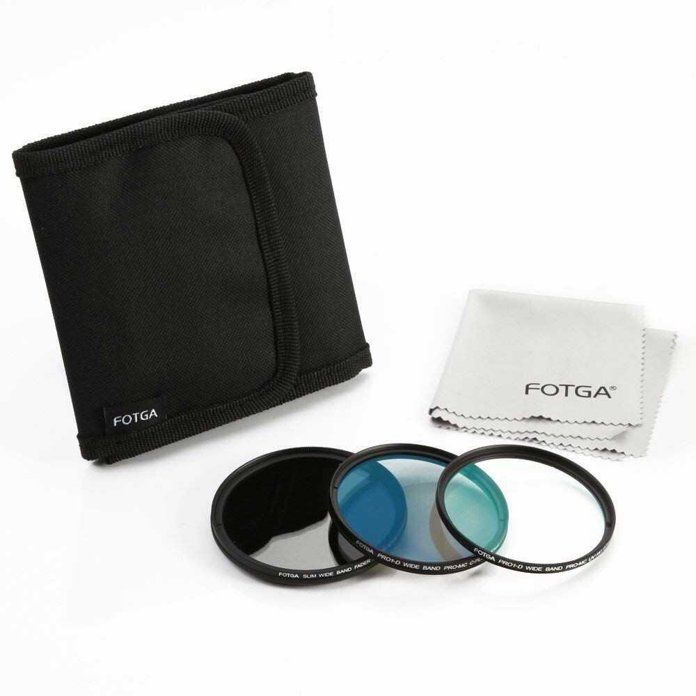 Fotga 43 mm Slim Optical Glass Camera Lens Filter Kits (Variable ND2-ND400 ND + MC UV + MC CPL Filter) + Filtry pasujące do Canon Nikon Sony Pentax DSLR Mirrorless Camera Lens
