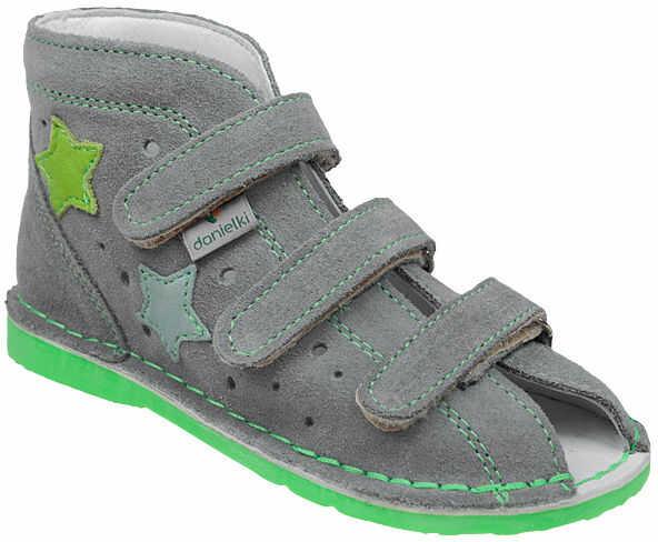 Kapcie profilaktyczne buty DANIELKI TA125 TA135 Szary Fluo Zielony - Szary Popielaty Zielony Multikolor