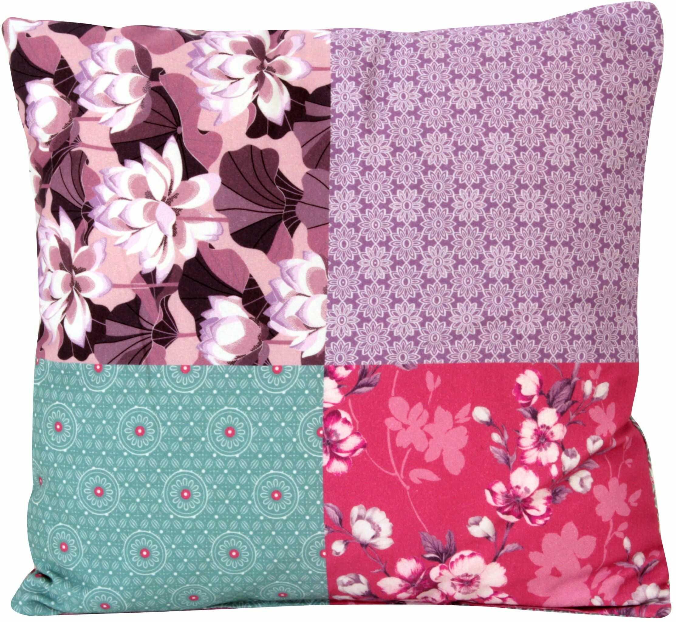 Max Winzer 989154442422359 poduszka ozdobna, mała, materiał patchwork jeżynowy