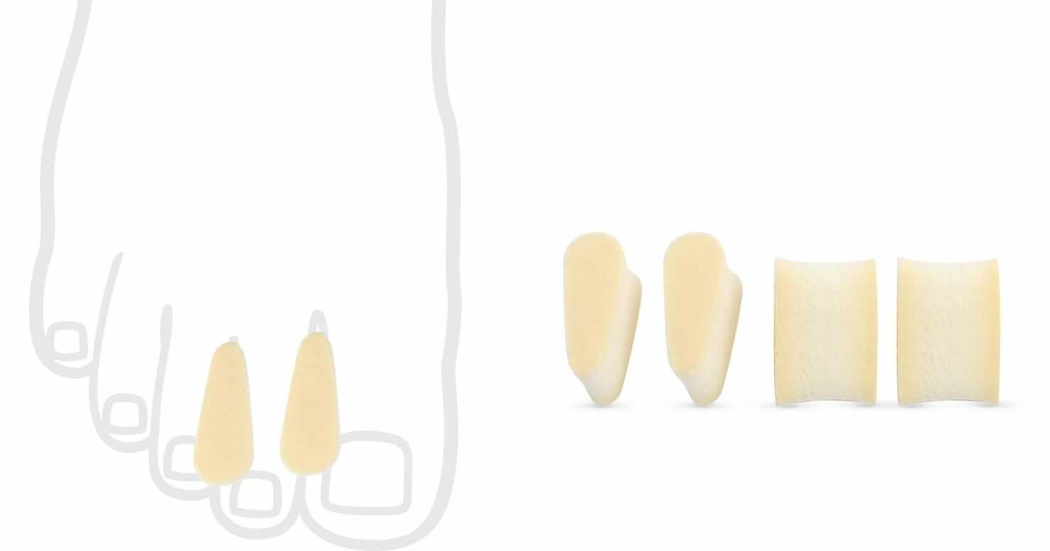 Kliny międzypalcowe z pianki lateksowej - miękkie, wygodne, dobra separacja palców (430)