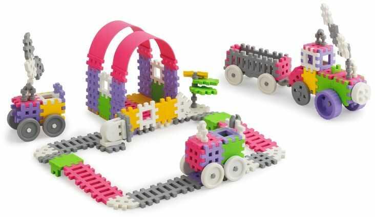 Klocki ''mini waffle'' 140el. Dziewczęcy konstruktor z pas (5903033902837)