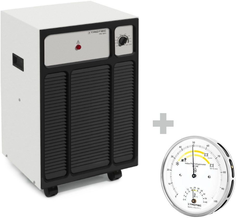 Osuszacz powietrza TTK 120 S do powierzchni do 95 m  + Termohigrometr BZ15M