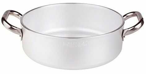 Pentole Agnelli Garnek do duszenia z aluminium, głębokość 40 cm, srebrny/czarny