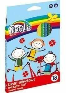 Kredki Super Soft 18 kolorów FIORELLO