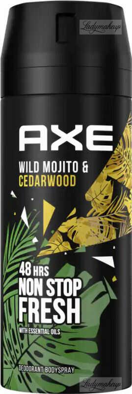 AXE - WILD - DEODORANT & BODY SPRAY - Dezodorant w aerozolu dla mężczyzn - Zielone Mojito i Drzewo Cedrowe - 150 ml