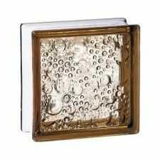 Pustak szklany 198 Bronze Bubble EI15 E60 luksfer 19x19x8 cm