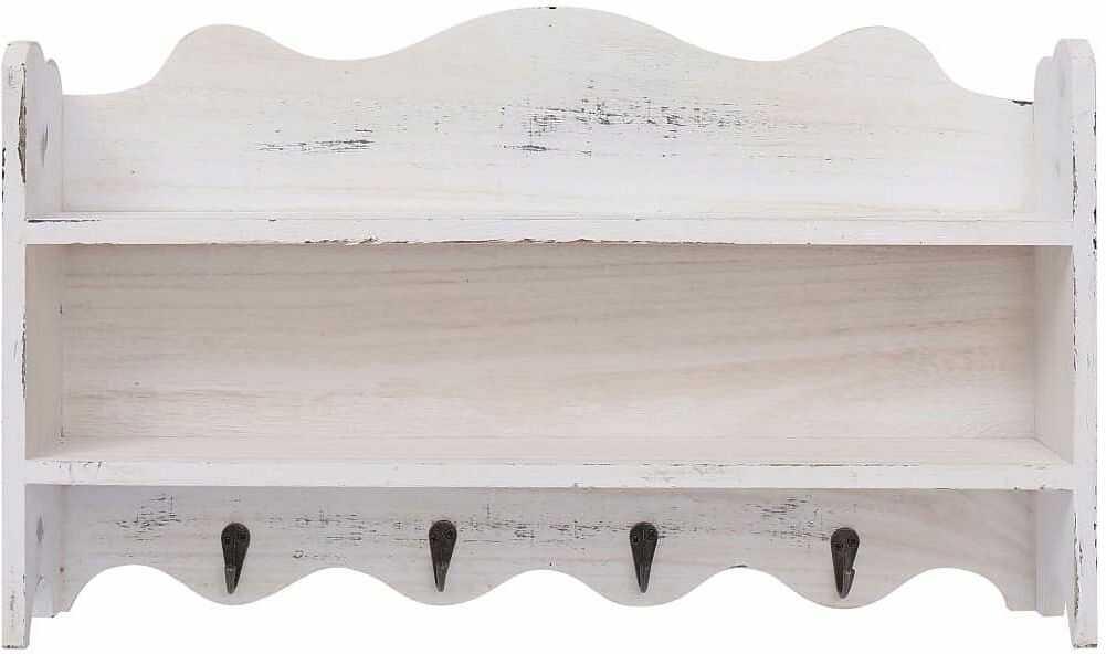 Wieszak ścienny z półkami Lusino - Biały