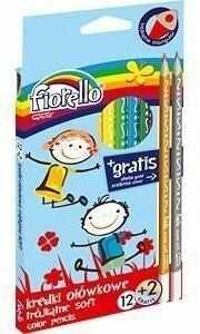 Kredki Super Soft 12 kolorów + 2 gratis FIORELLO