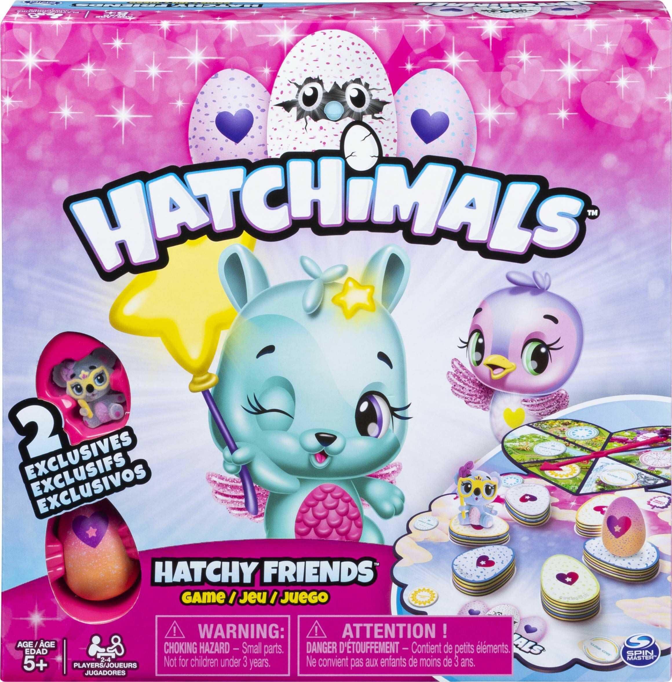 Spin Master Games Hatchimals, Hatchy przyjaciele gra z dwoma ekskluzywnymi CollEGGtibles, dla dzieci w wieku od 5 lat