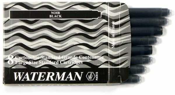 Nabój czarny STANDARD WATERMAN 8 sztuk - X05106