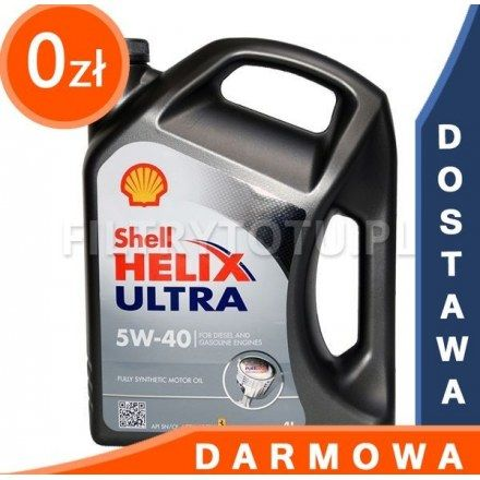 Shell Helix Ultra 5W40 4l DARMOWA DOSTAWA