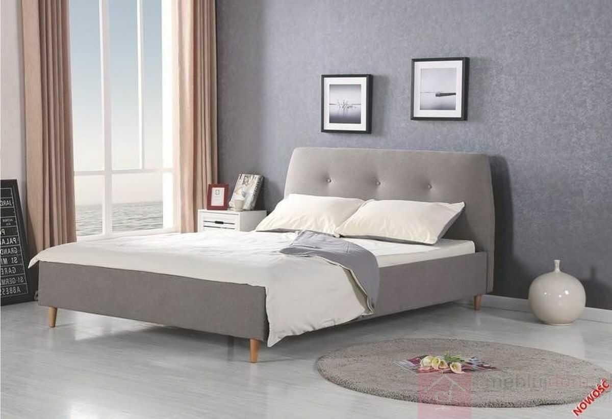 KUPON 10% NA STRONIE  Łóżko DORIS Halmar 160x200 cm, Szary