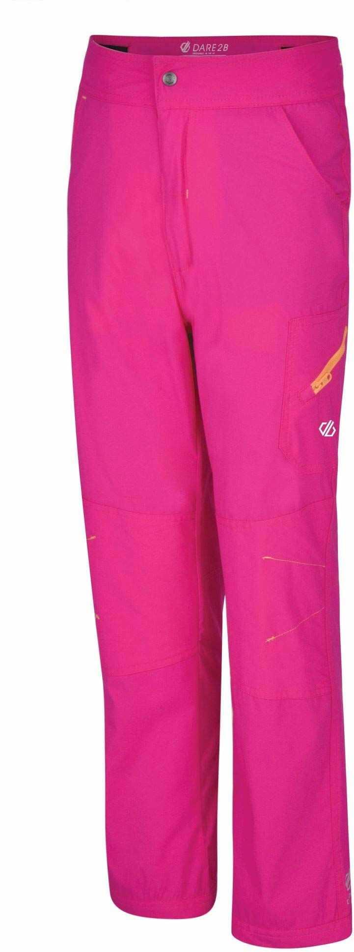 Dare2b Kids Reprise lekkie wodoodporne szybkoschnące spodnie, cyber różowy, rozmiar 3-4
