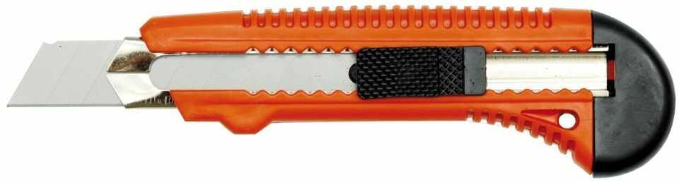76181 Nożyk z ostrzem łamanym 18mm, wzmocniony / karta