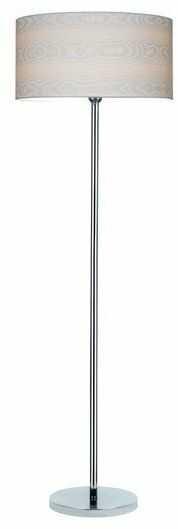 Lampa podłogowa LEILA chrom metal papier pcv drewno 6652028