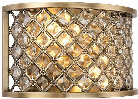 Kinkiet Hudson 70559 Endon mosiężna oprawa w stylu nowoczesnym
