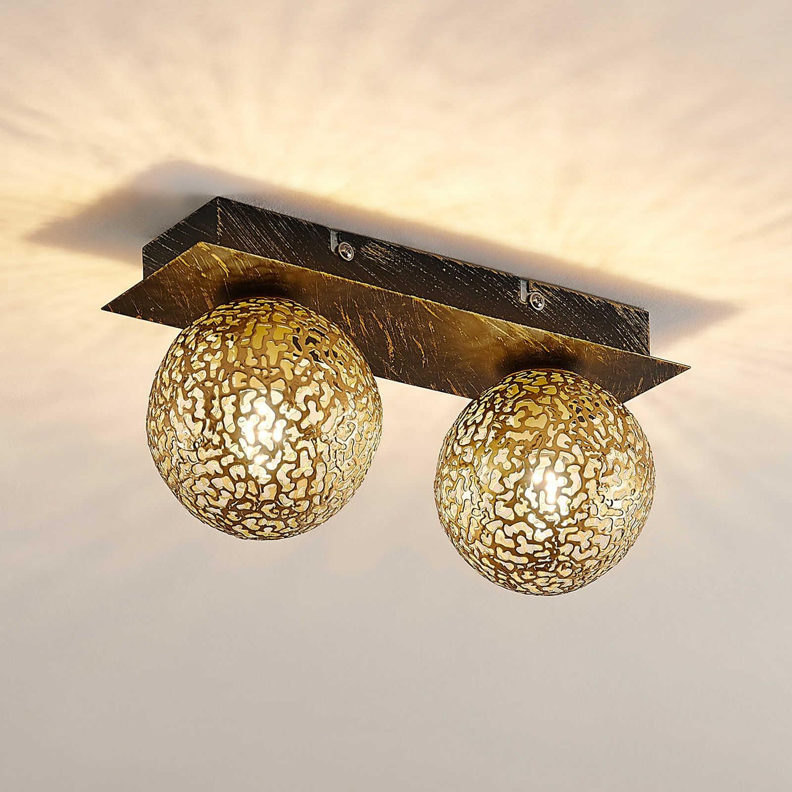 Lucande Evory lampa sufitowa, kątowa, 2-punktowa