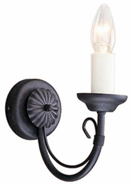 Kinkiet pojedyńczy Chartwell CH1 BLK Elstead Lighting czarna oprawa w klasycznym stylu
