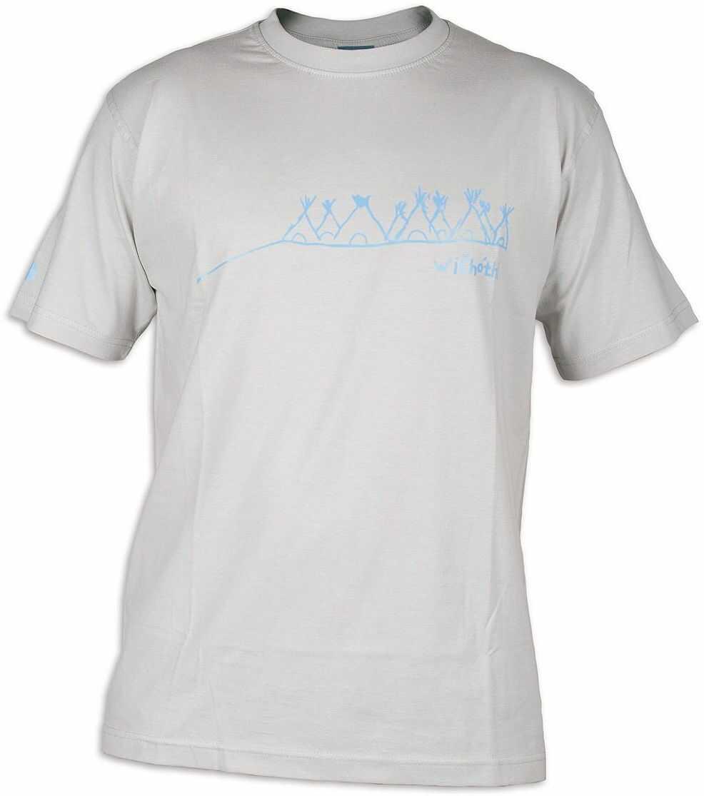 Tatonka Męski T-shirt Wichothi, silver grey, L, C178_734