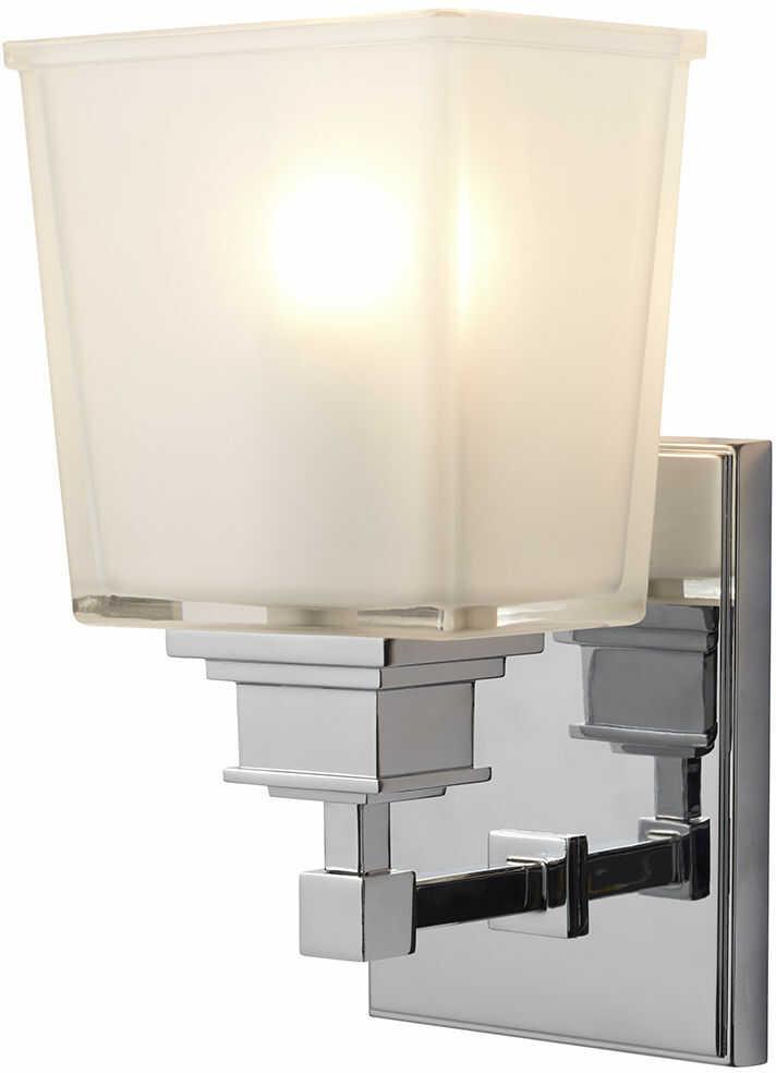 Kinkiet łazienkowy Aylesbury BATH/AY1 Elstead Lighting klasyczna oprawa w kolorze chromu