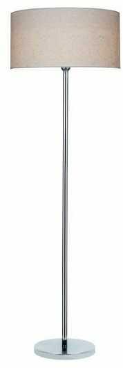 Lampa podłogowa LEILA chrom metal papier pcv paisley 6653028