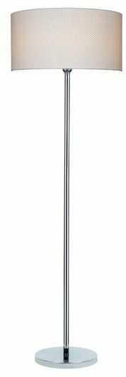 Lampa podłogowa LEILA chrom metal papier pcv kropki 6654028