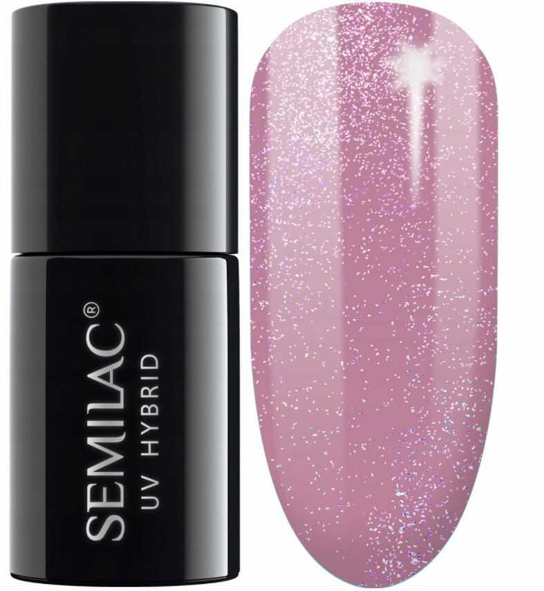 SEMILAC 319 Shimmer Dust Pink Lakier Hybrydowy