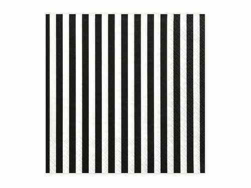Serwetki papierowe Biało-czarne paski