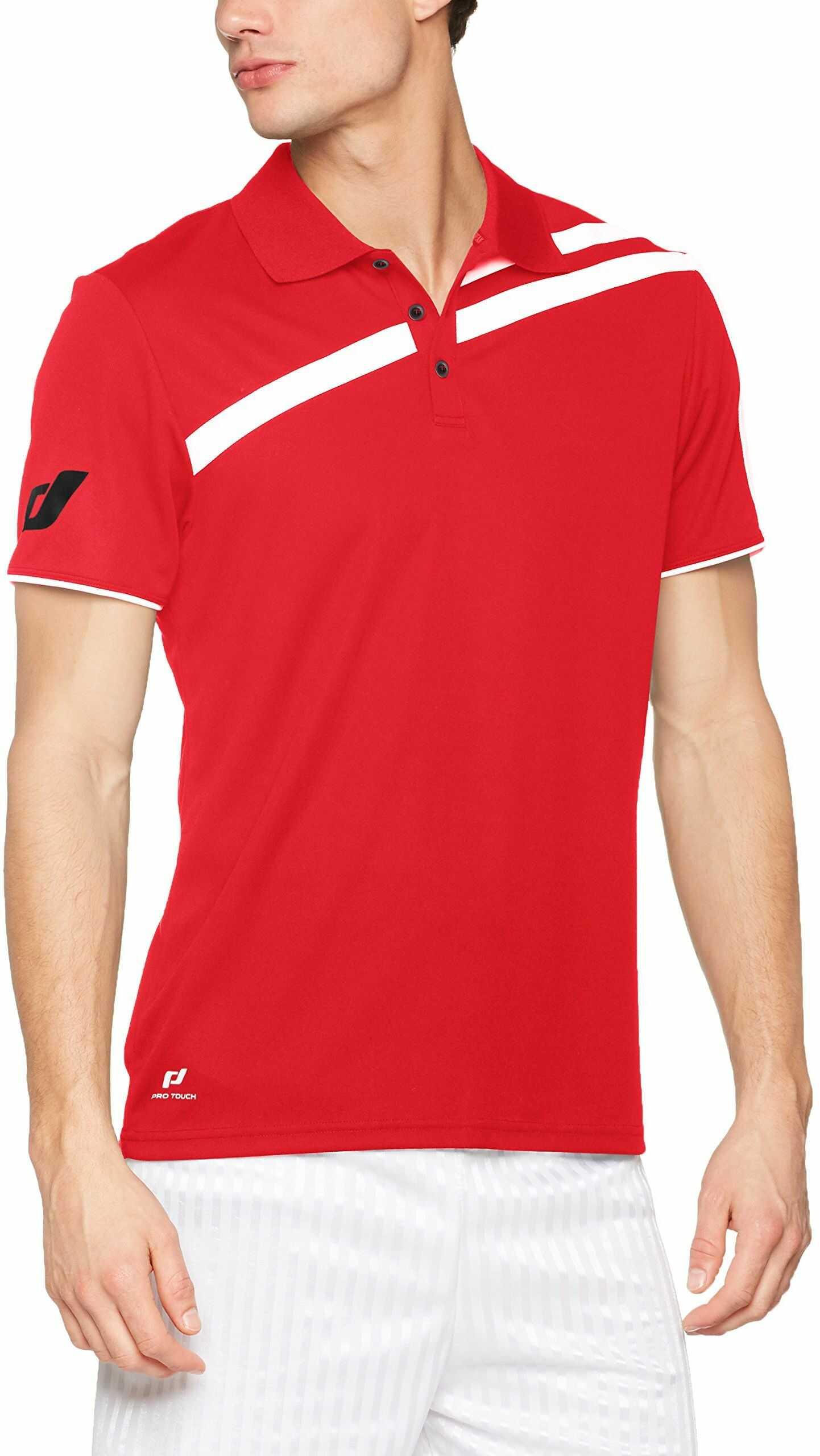 Pro Touch Męska koszulka polo Kurtis, czerwona, M