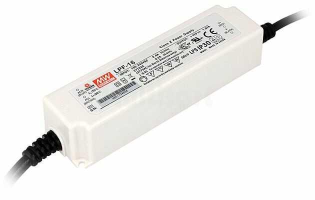 Zasilacz impulsowy do diod LED 16,2W 36VDC 0,45A 90 305VAC IP30 210g