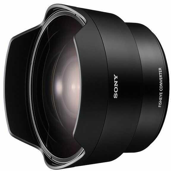 Sony SEL057FEC, konwerter szerokokątny do obiektywu Sony FE 28 mm F/2 (SEL28F2), konwertuje ogniskową na 16 mm, zapewnia efekt Fisheye. czarny