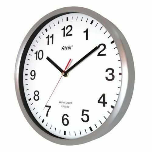 Zegar wodoszczelny 30cm metalowy radio controlled