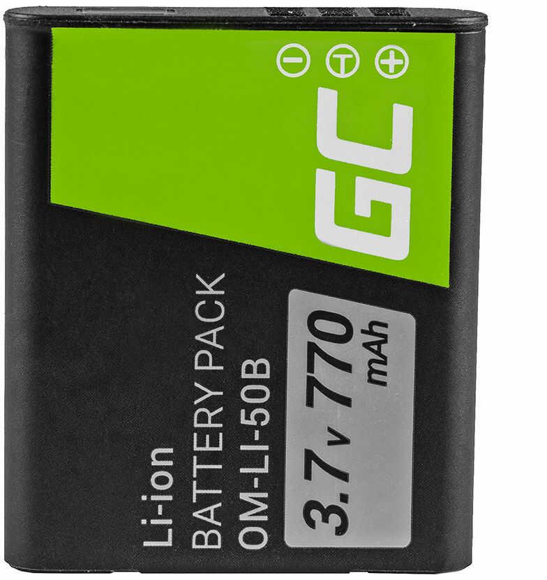 Akumulator Bateria Green Cell  LI-50B do Olympus Tough TG-810 TG-610 6000 Stylus 1010 1020 SP-720UZ SP-800UZ SZ-20 3.7V 770mAh