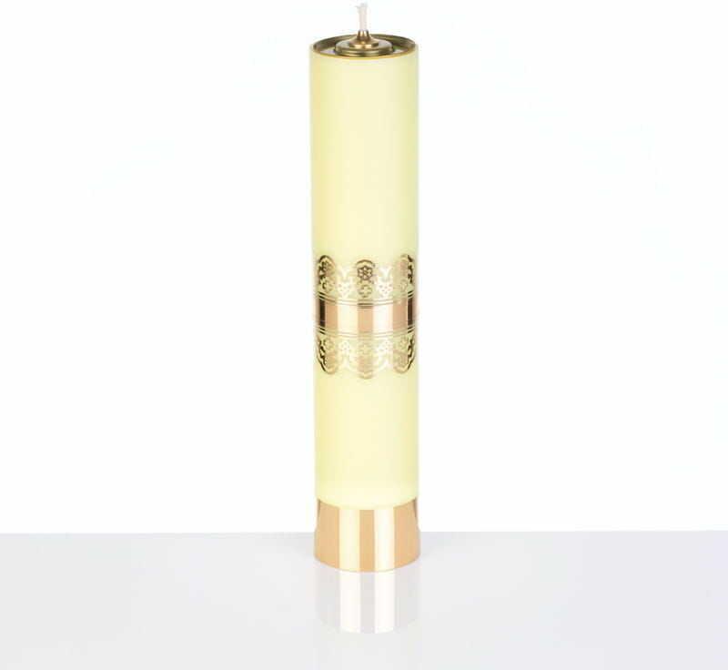 Świeca liturgiczna olejowa żółta, 31 cm