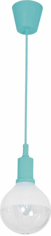 Milagro BUBBLE TURQUOISE ML459 lampa wisząca turkusowy klosz szklany zawiesie rozeta plastikowe 5W E14 LED 12cm