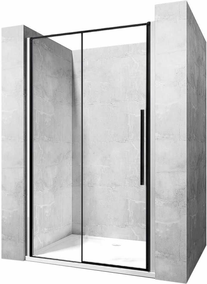 Rea Drzwi prysznicowe SOLAR BLACK MAT 140