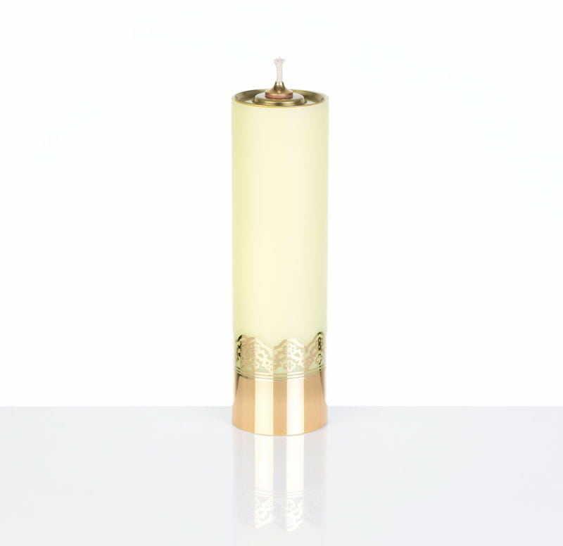 Świeca liturgiczna olejowa żółta, 22 cm