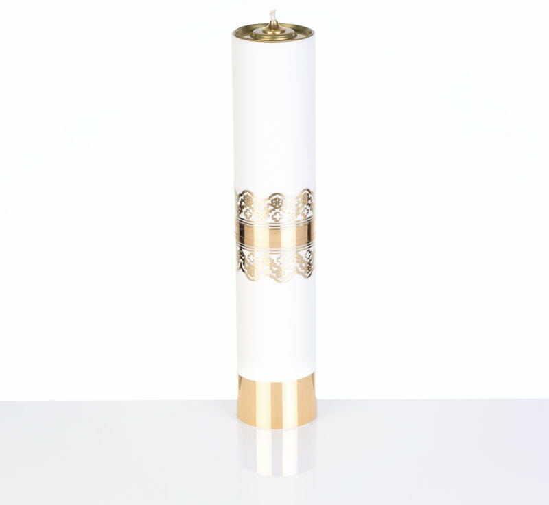 Świeca liturgiczna olejowa biała, 31 cm