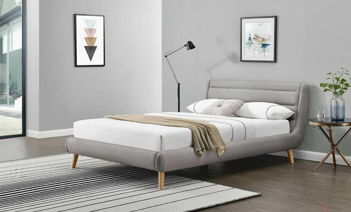 KUPON 10% NA STRONIE  Łóżko ELANDA Halmar 140x200 cm, Szary jasny [Wysyłka 2021-12-01]